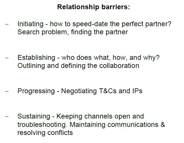 Partner relationship barriers - DayOne