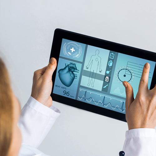doctor using tablet for digital health