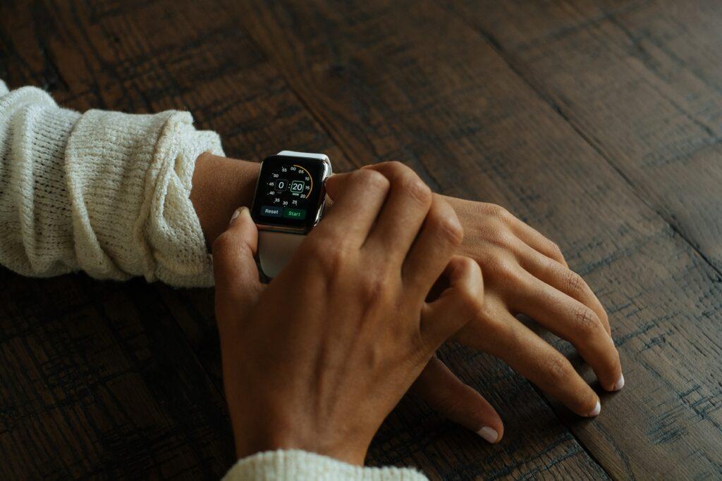 digital health watch on wrist